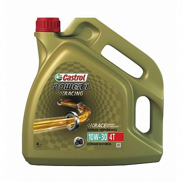 Моторные масла для мототехники CASTROL Power 1 Racing 4T 10W-30  (4л)